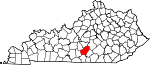 State map highlighting Adair County