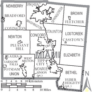 Miami County, Ohio - Municipalities and townships of Miami County