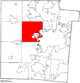 Map of Montgomery County Ohio Highlighting Trotwood City.png