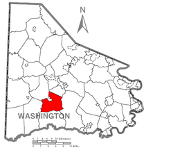 Location of South Franklin Township in Washington County