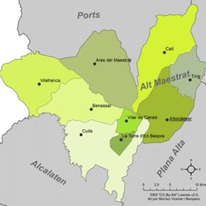 Alt Maestrat - Municipalities of Alt Maestrat