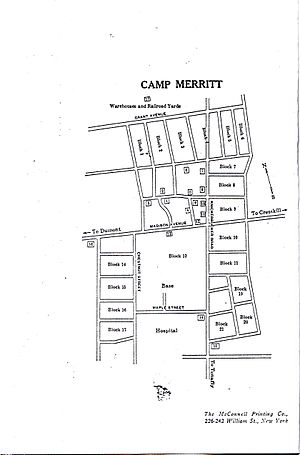 Camp Merritt, New Jersey - Map of Camp Merritt