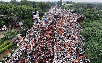 Maratha Kranti Morcha - Image: Maratha Kranti Morcha public nagar