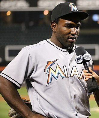 Marcell Ozuna - Ozuna with the Miami Marlins in 2016.