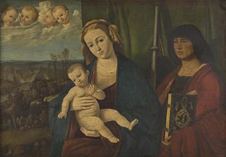 Virgin and Child, with Saint James the Great