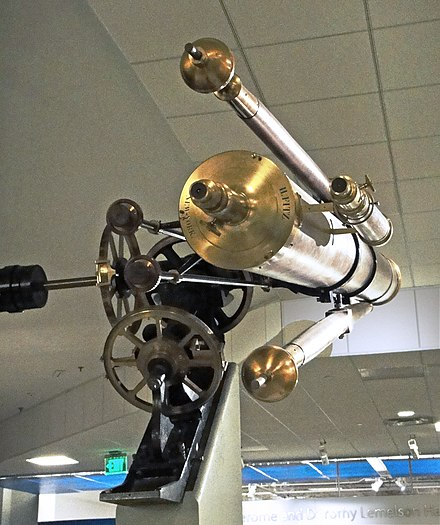 Maria Mitchell's telescope, on display in the Smithsonian Institution National Museum of American History Maria Mitchell's telescope2.jpg