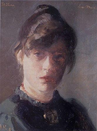 Marie Krøyer - Marie Krøyer: Self-portrait (1889)