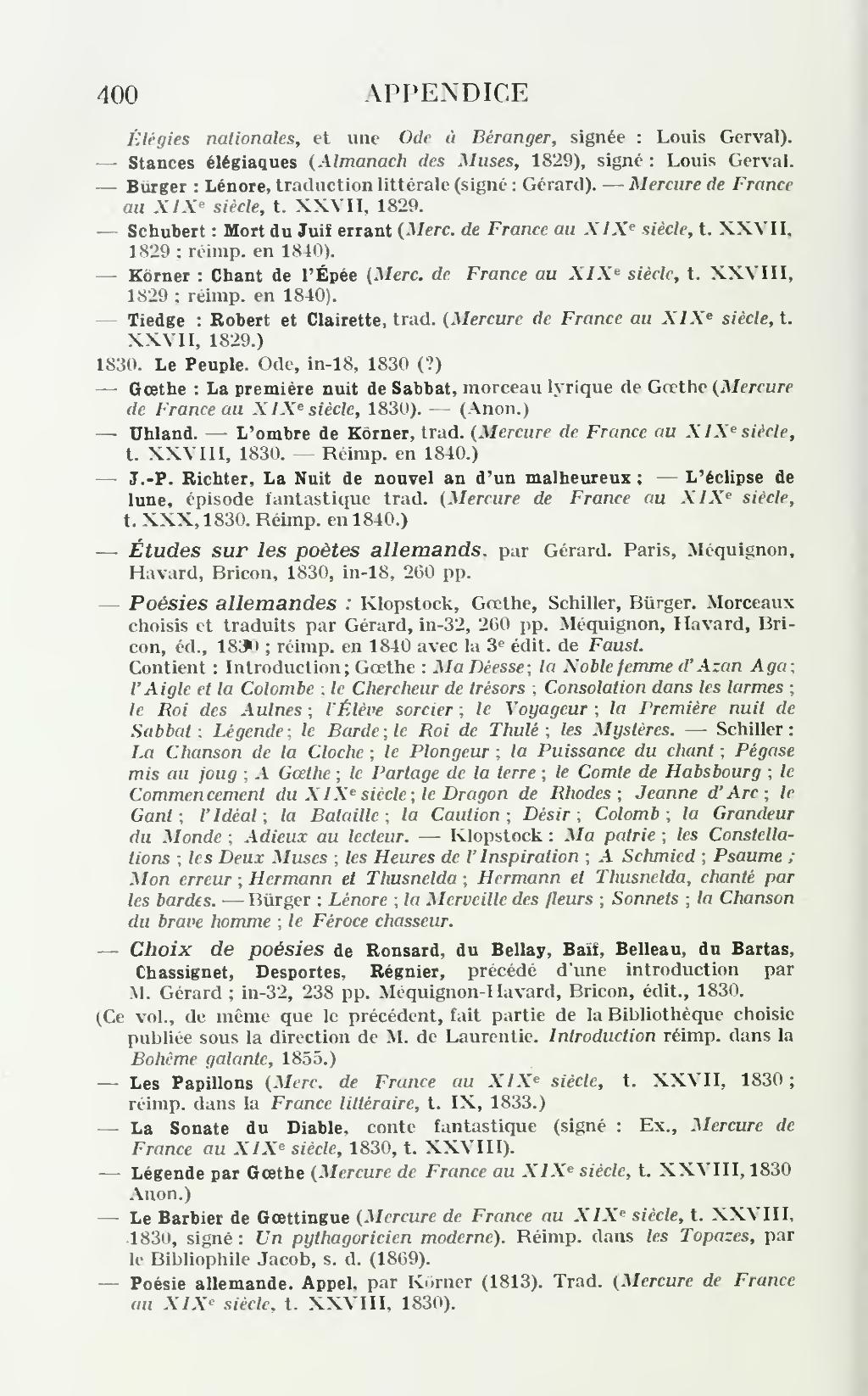 lenore et autres poesies allemandes