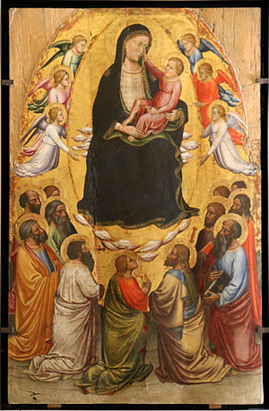 Musée du Petit Palais, Avignon - The Virgin in glory with the Apostles, by Mariotto di Nardo