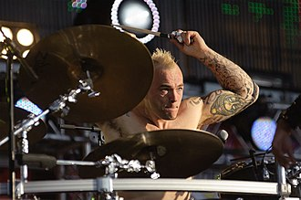 Mark Richardson (musician) - Mark Richardson playing with Skunk Anansie at Rock on the Volga River in 2011