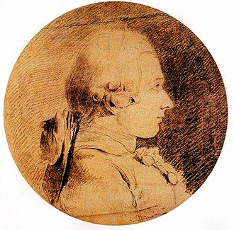 Marquis de Sade - Portrait of Donatien Alphonse François de Sade by Charles Amédée Philippe van Loo. The drawing dates to 1760, when de Sade was nearly 20 years old, and is the only known authentic portrait of the Marquis.