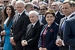 Marta Kaczyńska Jarosław Kaczyński Beata Szydło Andrzej Duda nadanie imienia Lecha Kaczyńskiego gazoportowi.jpg