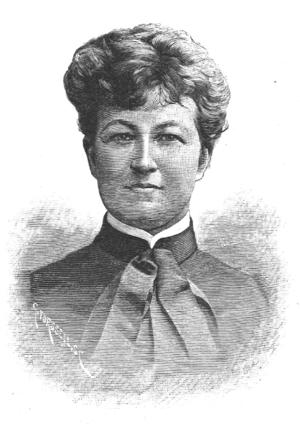 Martina Bergman-Österberg - Xylograph of Martina Bergman-Österberg published in ''Idun'' in 1890.