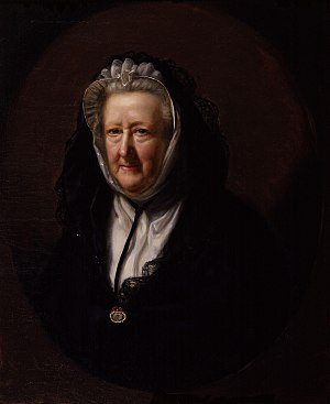 Mary Delany - Portrait of Mary Delany by John Opie, 1782.