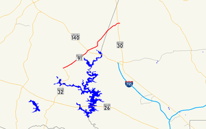 Maryland Route 91 - Image: Maryland Route 91 map