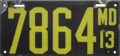 Maryland license plate, 1913.png