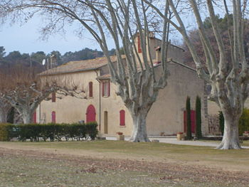 A Mas, or Provencal farmhouse, near Rognes in ...