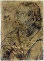 Matthias Gruenewald-Zeichnungen-Brustbild eines aufwaerts blickenden Mannes mit Federkiel.jpg