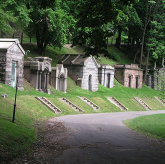 Green-Wood Cemetery - A few of the many mausoleums at Green-Wood