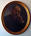 Max Müller 1850 - 1912 ovales Portraitgemälde in Rahmen an Bürowand mit Schatten.jpg