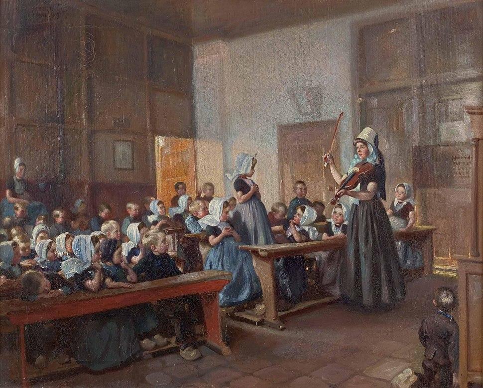 Max Silbert Gesangsstunde in der Kinderschule in Holland 1907