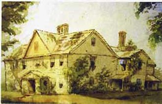 Abigail May Alcott Nieriker - May Alcott Nieriker, Orchard House, watercolor of the Alcott family home, before 1879