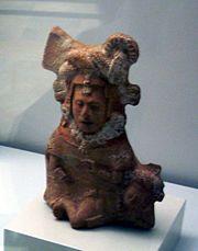 Maya ceramic figurine, Museo de América