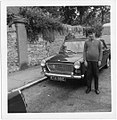 Me with my Dad with my Uncle's 1965 Austin 1100 (ADO16) (23462495589).jpg