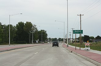 Medford, Wisconsin - Image: Medford Wisconsin Sign WIS13