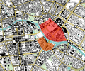 Medieval Cölln-Berlin in a Current Map of the Center of Berlin.png