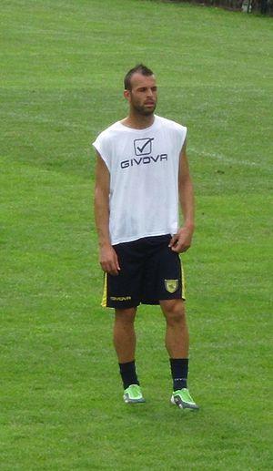 Riccardo Meggiorini - Meggiorini training with Chievo