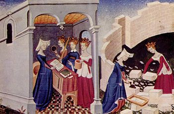 Illustration from the book of the city of women