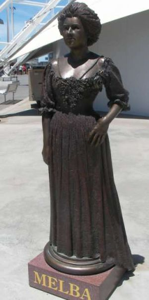 Peter Corlett - Image: Melba statue at waterfront city