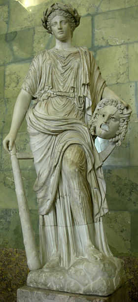 Melpomene, Roman statue at the Hermitage, Russia.jpg