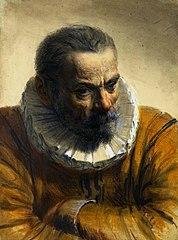 Mężczyzna w renesansowym stroju