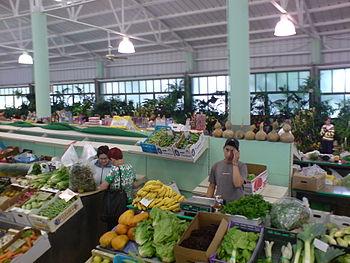 Mercado agricola vega san mateo puesto gran canaria