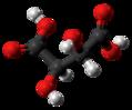 Meso-Tartaric acid molecule ball from xtal.png