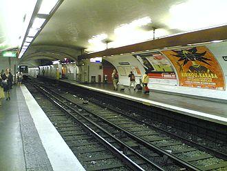 Gare d'Austerlitz (Paris Métro) - Image: Metro 10 Austerlitz