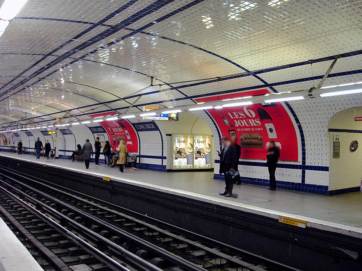 Plaque Metro Parisien Deco concorde (métro de paris) — wikipédia
