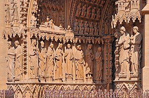 Portal (architecture) - Image: Metz Cathedral R01