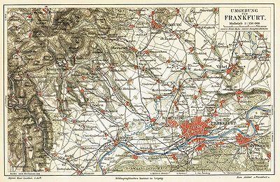Umgebungskarte, 1893