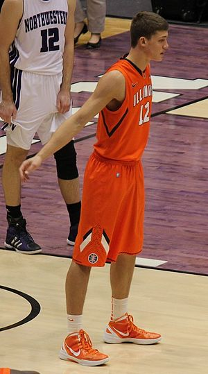 Meyers Leonard - Leonard playing for Illinois