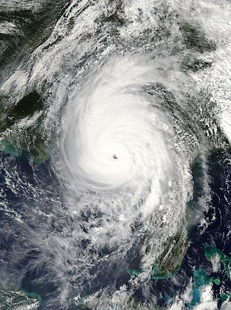 Tropical cyclone naming - Hurricane Michael nearing peak intensity, October 2018