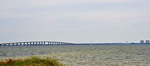 Mid-Bay Bridge - The Mid-Bay Bridge crosses Choctawhatchee Bay connecting U.S. Highway 98 in Destin to Florida State Road 20 in Niceville.