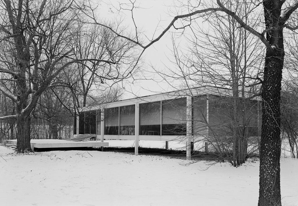 Mies Van Der Roheglass House Living Room