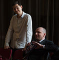 Mike Hall and Michael Marshall at QED Con 2014.jpg