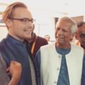 Miks C-Kellman (Celmiņš) with Nobel Laureate Prof. Muhammad Yunus.png