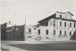 L'edificio dell'ex monastero di San Vittore distrutto dai bombardamenti del 1943.