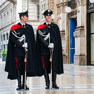 Cape - Image: Milano Italy Carabinieri 01