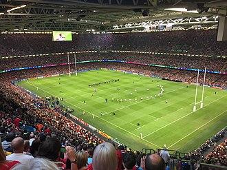 1999 Rugby World Cup - Image: Millennium Stadium RWC2015